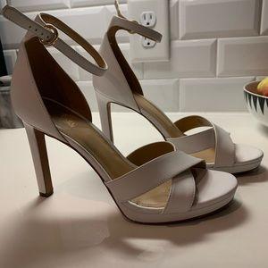 Michael Kors white heels 7.5 rehearsal bridal